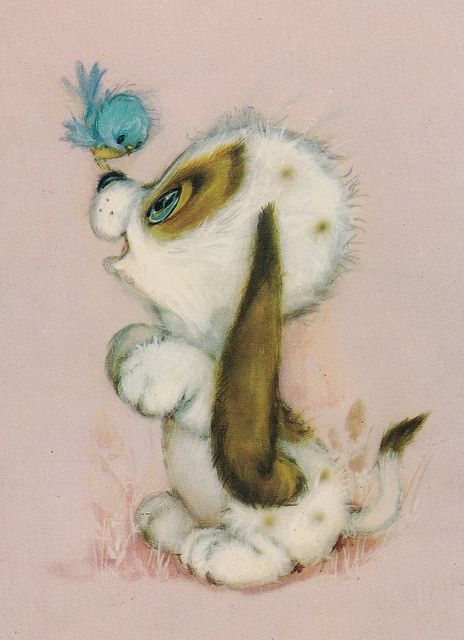 Vintage Hallmark Postcard by hmdavid, via Flickr