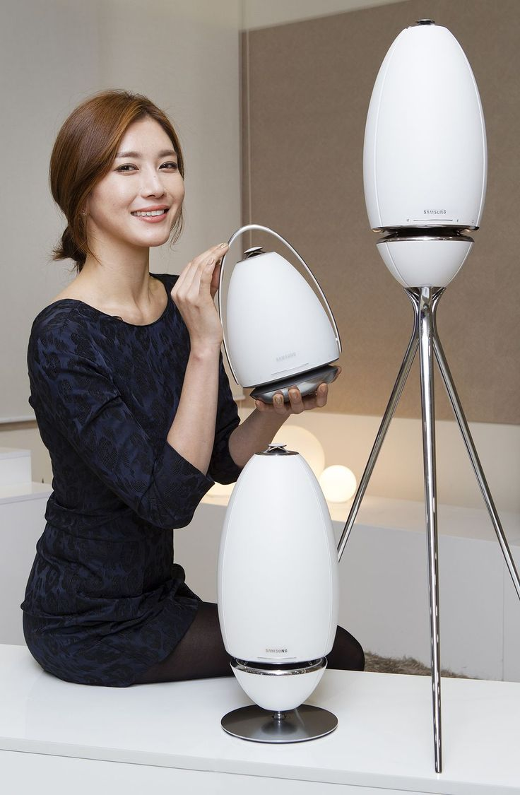 A week ahead of CES 2015, Samsung has given us a glimpse of two new pill-shaped speakers it'll show off at the event. The speakers, which resemble a sleek cross between Eve from Wall-E and a Portal...