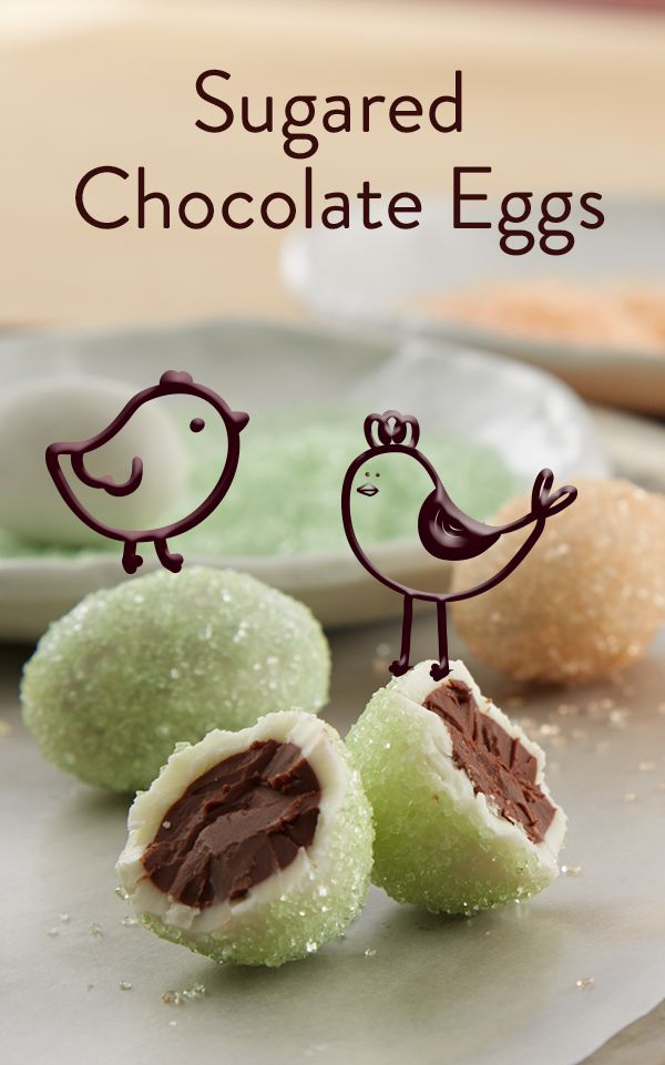 47 best spring images on pinterest desert recipes pastries try making hersheys sugared chocolate eggs for easter these chocolate treats are a fun and creative recipe to make with your kids negle Images