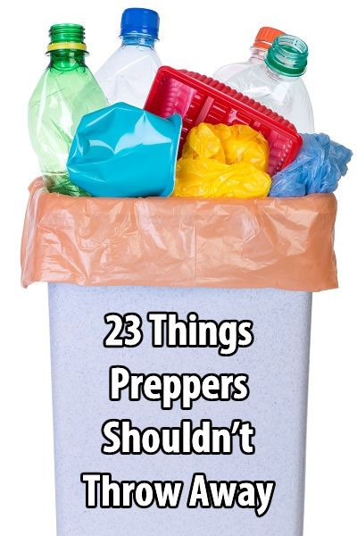 Here are some examples of things you should stop throwing away and start setting aside. Remember, during long-term disasters almost everything has a use.