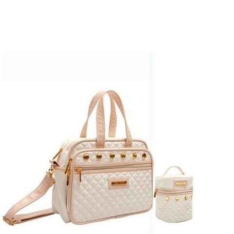 (lojasantos) Kit Maternidade (bolsa+frasqueira) Tigor - R$219,90 - Bege