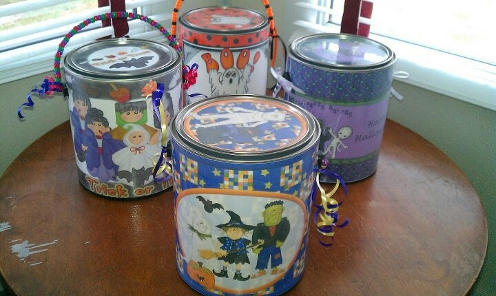 Trick or treat cans