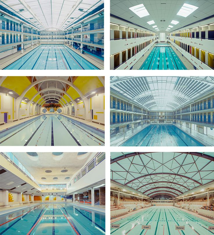 Typology of swimming pools. Photography by Franck Bohbot