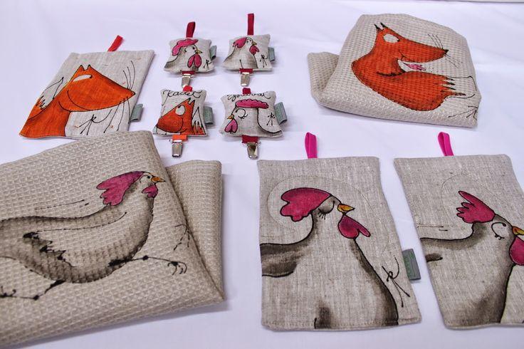 Popper design- Anun Popper Chicken and fox on kitchen items
