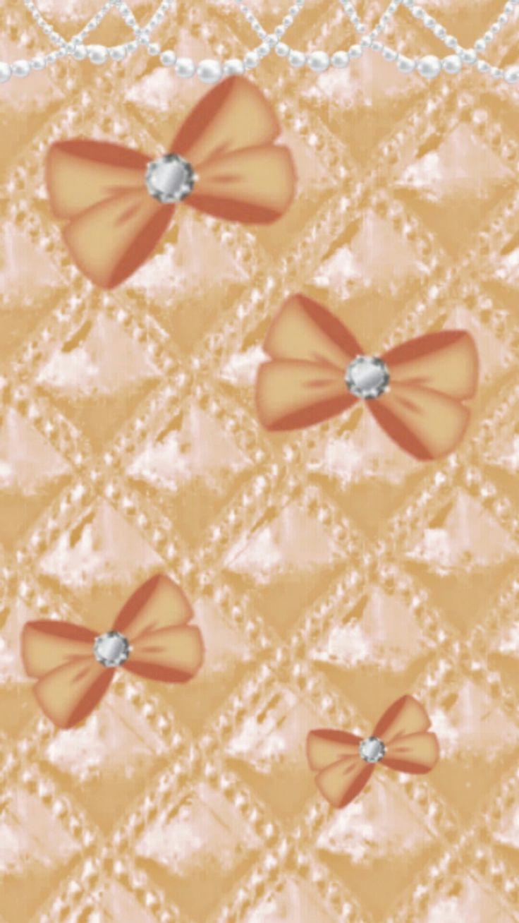 Pink Bows Upholstry And Pearls Wallpaper Background Iphone