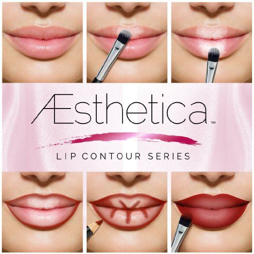 Amazon.com : Aesthetica Cosmetics Lip Contour Kit - Cream Contouring and Highlighting Lipstick Palette Set - Includes Six Lip Crèmes, Four Lip Liners, Lip Brush and Step-by-Step Instructions - Vegan & Cruelty Free : Beauty