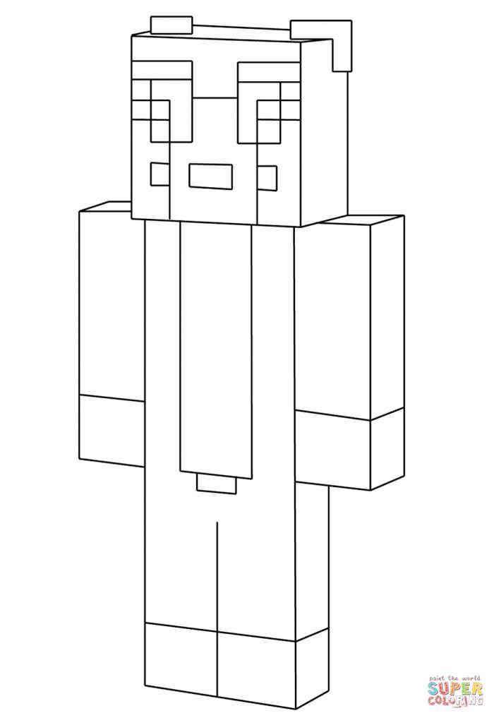 Minecraft Stampy Coloring Page Coloring Sheets For Kids