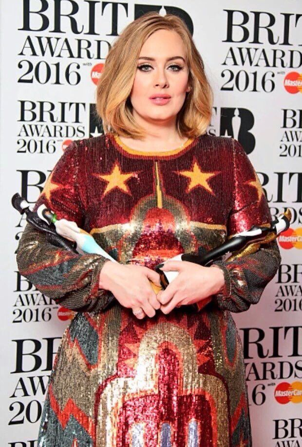 Adele and her BRIT Awards #2016