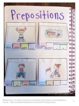 eyeglasses prescription form Prepositions Interactive Notebook Activity   Here is a fun literacy center activity for students in grades 1 or 2  This prepositions activity also works well for ESL  special education and speech therapy  Your students will create mini file books for 14 prepositions