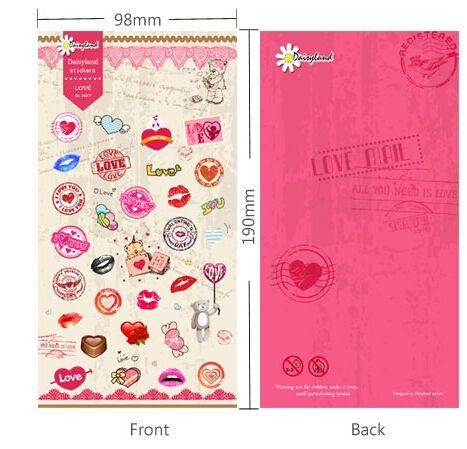 Дешевое Корейский мода розовые сердца и рты важная бумаги стикер Cartton DIY скрапбукинг дневник дети дети наклейки подарок 6 шт./лот, Купить Качество Бумага для заметок непосредственно из китайских фирмах-поставщиках:                            Уважаемый клиент,