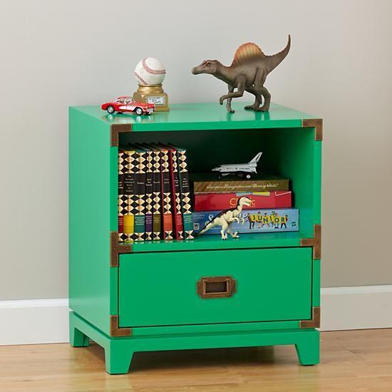 Campaign nightstand kelly green kids habitat for Habitat decoracion