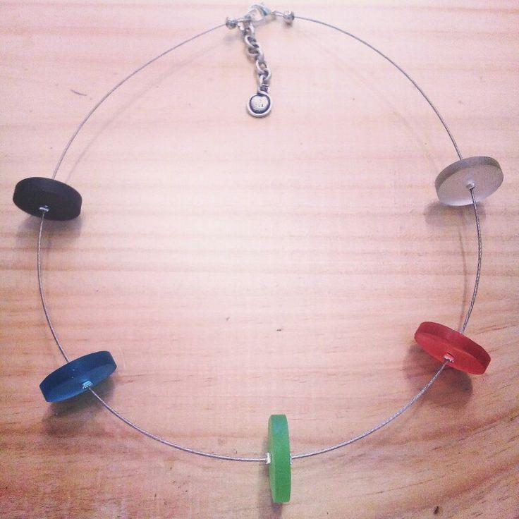 Resin & steel necklace  Tim & Kat jewelry