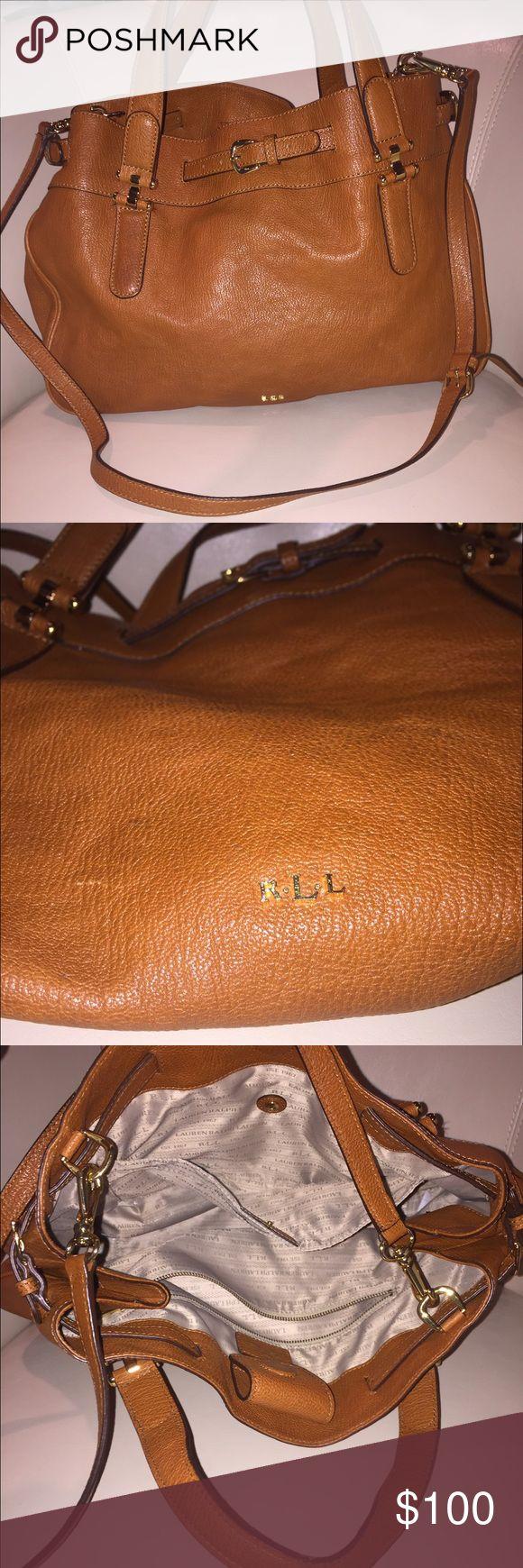 Ralph Lauren large shoulder bag Light brown Ralph Lauren crossbody bag, never before worn! Great condition, lots of storage pockets. Ralph Lauren Bags Crossbody Bags
