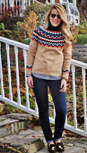 Summer Wind// fall fair isle sweater via Lands End