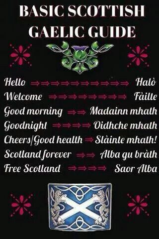 Scottish Gaelic mini-dictionary (via 'My heart will always be in Scotland)