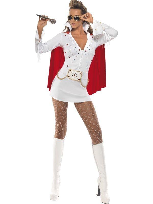 Seksowny strój w stylu Elvisa z pewnością zwróci na Was uwagę i sprawi, że staniecie się prawdziwą gwiazdą imprezy