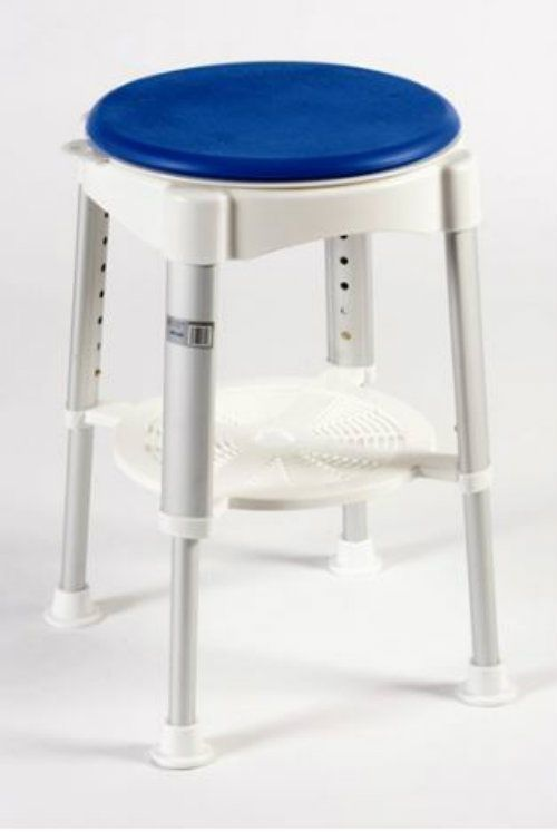 Taburete de Baño giratorio-Silla para ducha con asiento acolchado