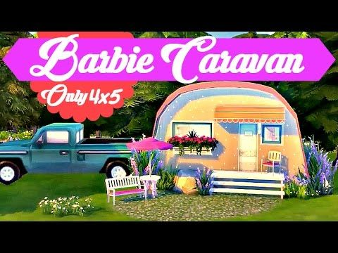 Sims 4 | House Build: Barbie Caravan - Micro Home (Only 4x5) - YouTube