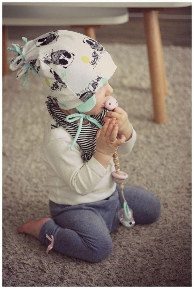 Nähanleitung für niedliche Knotenmütze und Halstuch für Kinder / diy sewing instruction: cute beanie and scarf for children by Din.Din-Handmade via DaWanda.com