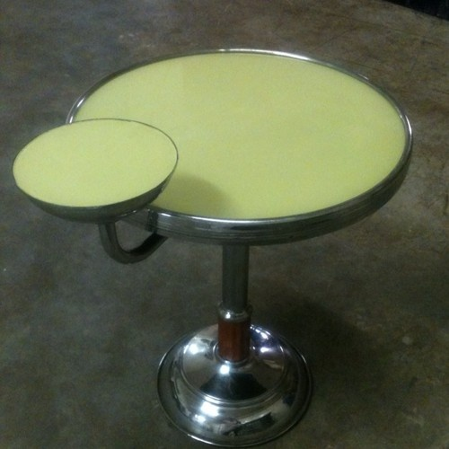 new art deco furniture. art deco side table chrome with rotating cup rest new furniture