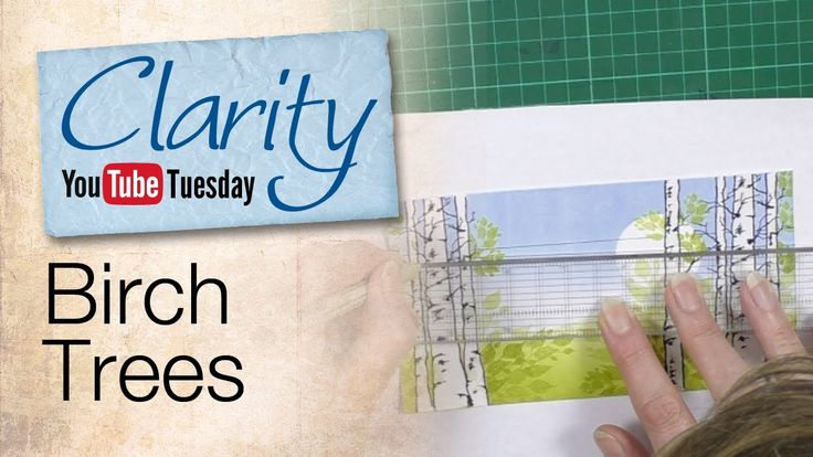 It's Clarity YouTube Tuesday! This week, Barbara makes a Birch Tree landscape using a whole host of techniques. How to brayer hills, clear embossing as a resist technique and how to draw birds on a wire. You'll learn lots of new techniques and hopefully you'll get a few Ideas to make some beautiful cards of your own!