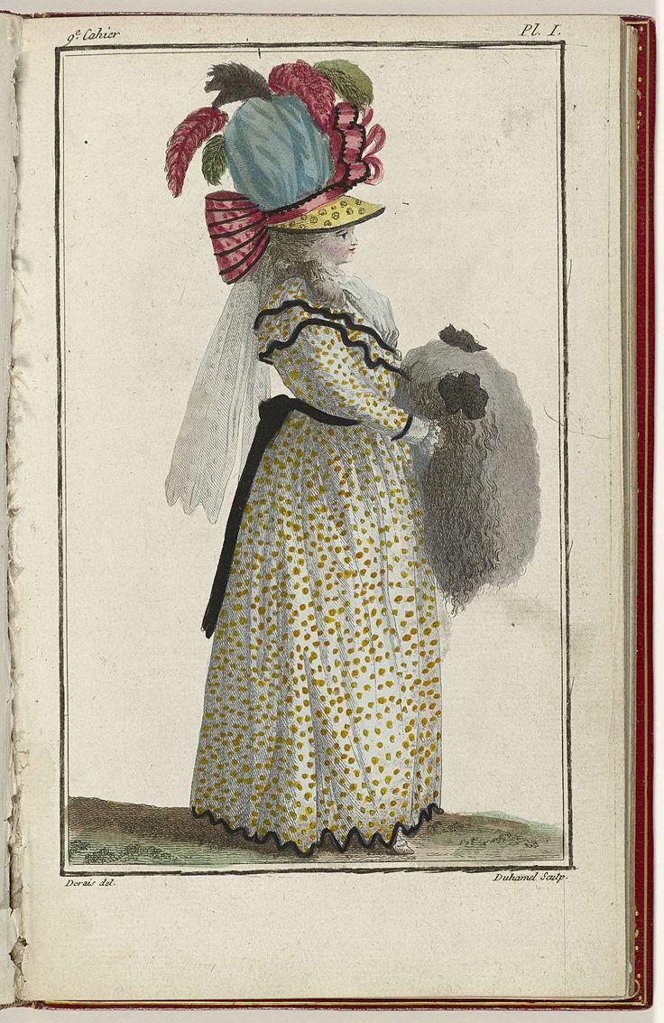 Cabinet des Modes ou les Modes Nouvelles, 15 Mars 1786, pl. I, A.B. Duhamel, Claude Louis Desrais, Buisson, 1786