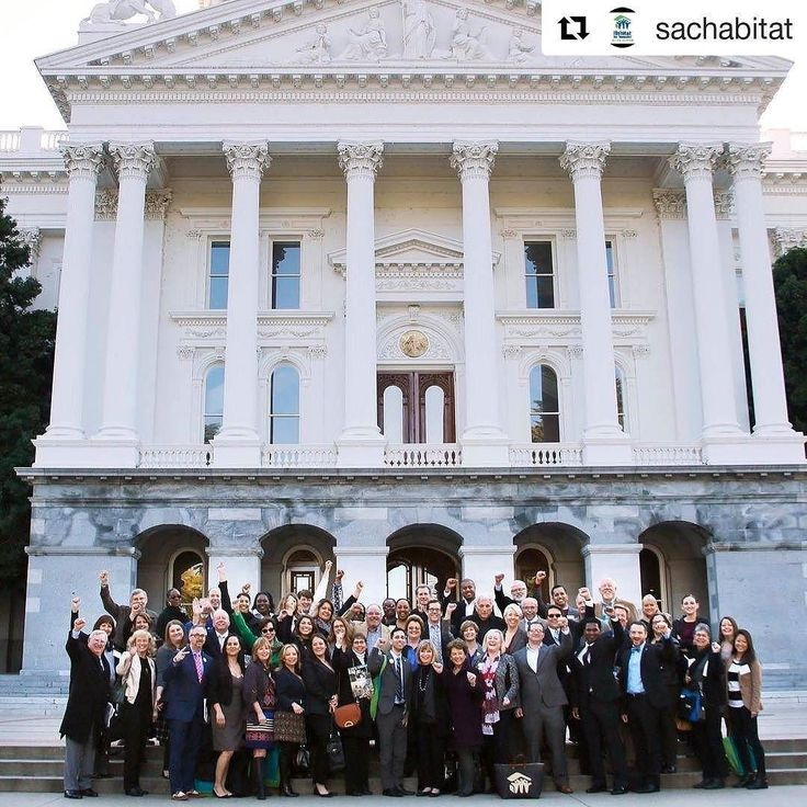 #Repost @sachabitat with @repostapp  Yesterday our team joined Habitat representatives from all across the state of California to participate in our Habitat CA Advocacy Day at the Capitol and meet with 120 legislators to see how together we might be able to #BuildLOUDER .  Something many don't realize is that Habitat's across the State of California currently receive NO state funding whatsoever.  Meaning our Habitat efforts to provide safe decent affordable housing both here locally and…