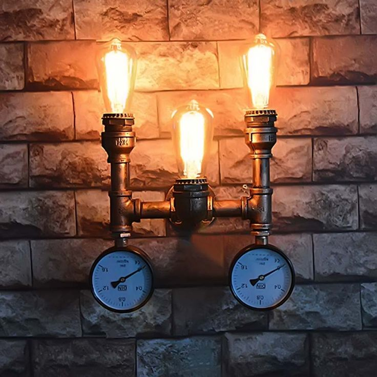 Amercian Loft Style Water Pipe Wall Sconce RH Retro Wall Light Fixtures For Home Vintage Industrial Lighting use E26/E27 bulb #Affiliate