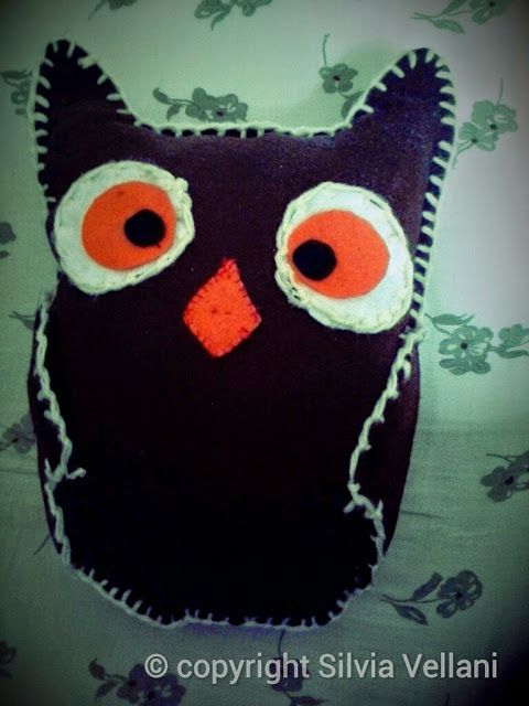 Marea di Leuko: Gufo in panno lenci owl made by felt