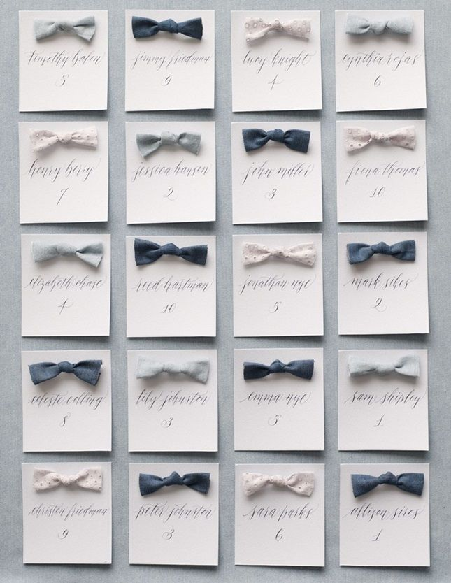 Something Blue: 17 Cool and Creative Chambray Wedding Ideas via Brit + Co.