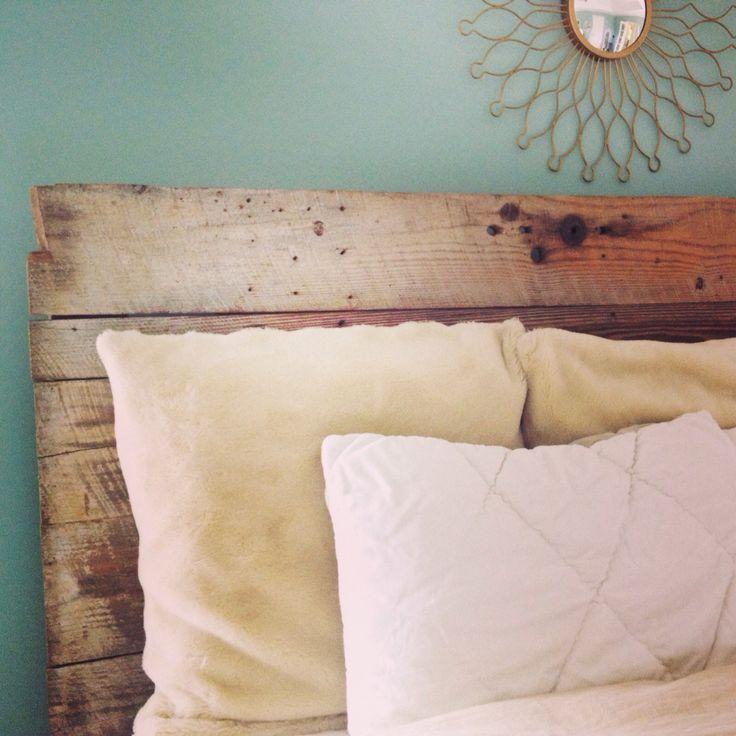 old barn door headboard | Old barn door headboard. Rustic and beautiful. #lemontreedesign