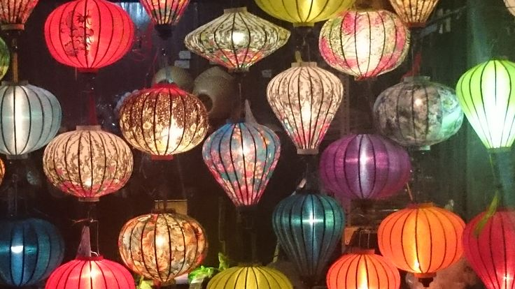 Hoi An Lantern City jewel colours