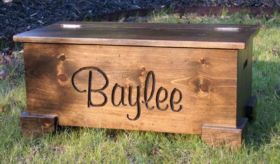 personalized Large Wooden Chest/Toy Chest/memory box/hope chest on Etsy, $200.00