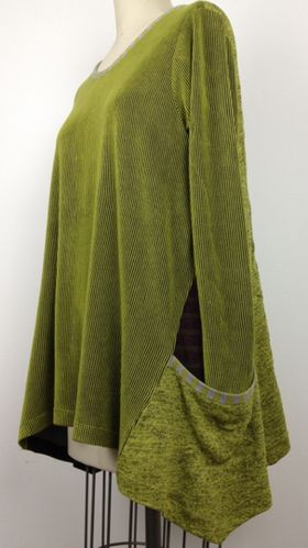 side wedge / pocket detail