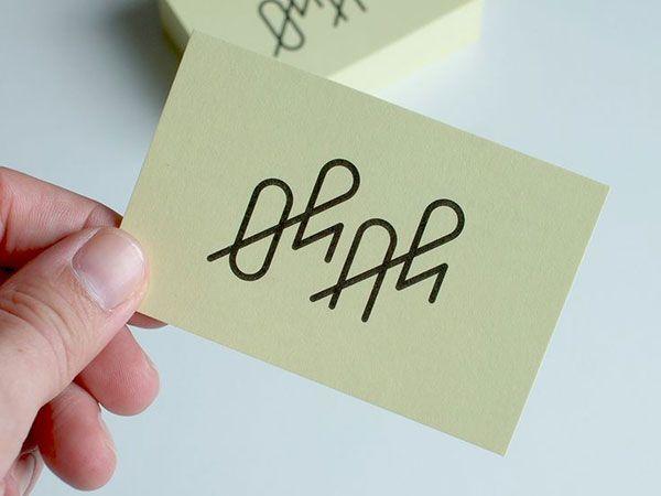 A fine line logo example.