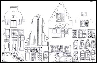 How to draw Dutch canal houses