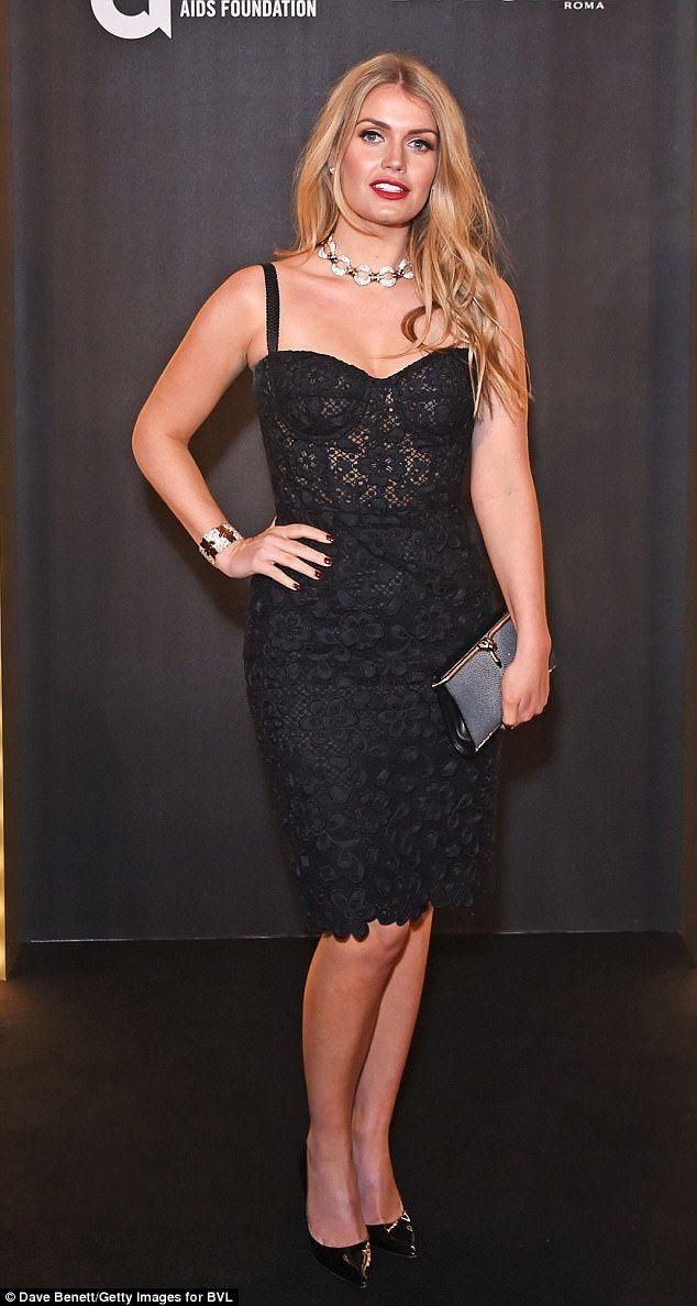 Va-va-voom! Lady Kitty Spencer looked like a Hollywood bombshell on Wednesday night