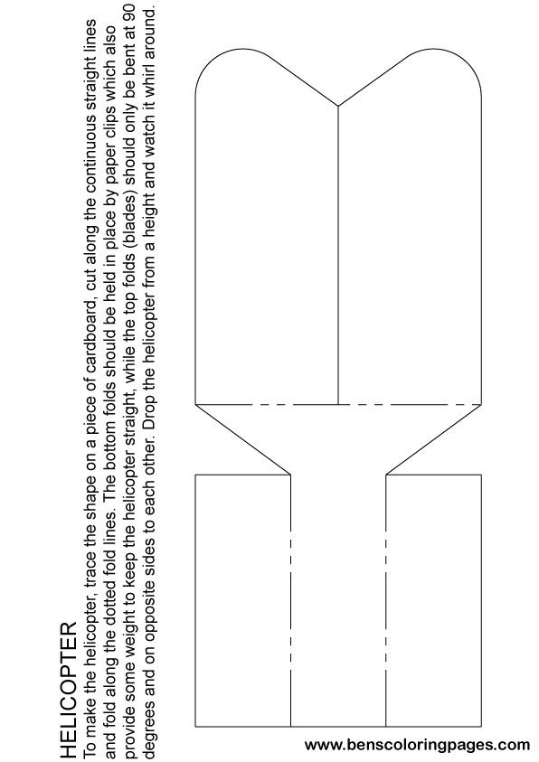 Paper Helicopter Activity Sheet