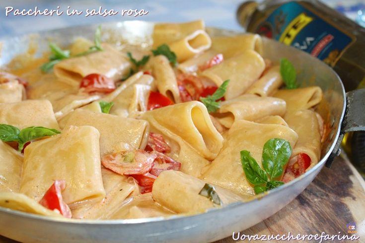 I paccheri di Gragnano rendono particolarmente speciale qualsiasi primo piatto; provateli in questa versione: paccheri in salsa rosa.