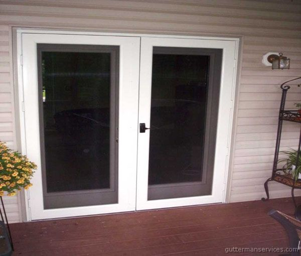 Best 25 double storm doors ideas on pinterest wood for Storm doors for french patio doors