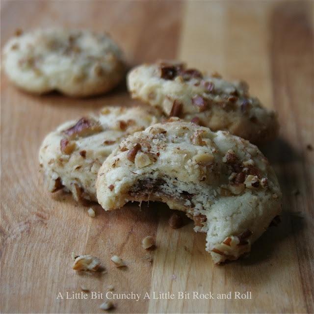 A Little Bit Crunchy A Little Bit Rock and Roll: Pecan Sandie Rolo Cookies: Bit Crunchi, Cookies Monsters, Bit Rocks, Pecans Sandy, Savory Recipes, Sandy Rolo, Rock And Roll, Rocks And Rolls, Rolo Cookies