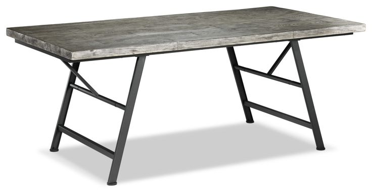 Get Your Drift. The Fernando dinette eases its way into your dining room like a windward breeze, with its versatile, easy-to-match grey driftwood finish. Taking its inspiration from pieces of wood that wash up on shore, the washed-out grey hue is an on-trend neutral that's perfect for blending with existing décor and colour schemes. The rich grains in the tabletop and chair legs have tons of character, just like an old seaside home. The tightly tailored linen-upholstered chairs feature a ...