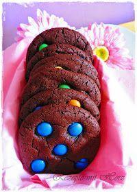 Thermomix – Rezepte mit Herz : Chocolate Chip Cookies mit Smarties – #Chip #Choc…