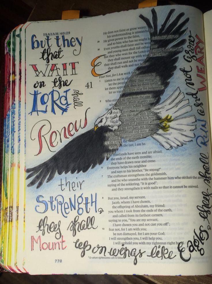 Isaiah 40:31.  Soar.  Sherrie Bronniman - Art Journaling: In My Bible