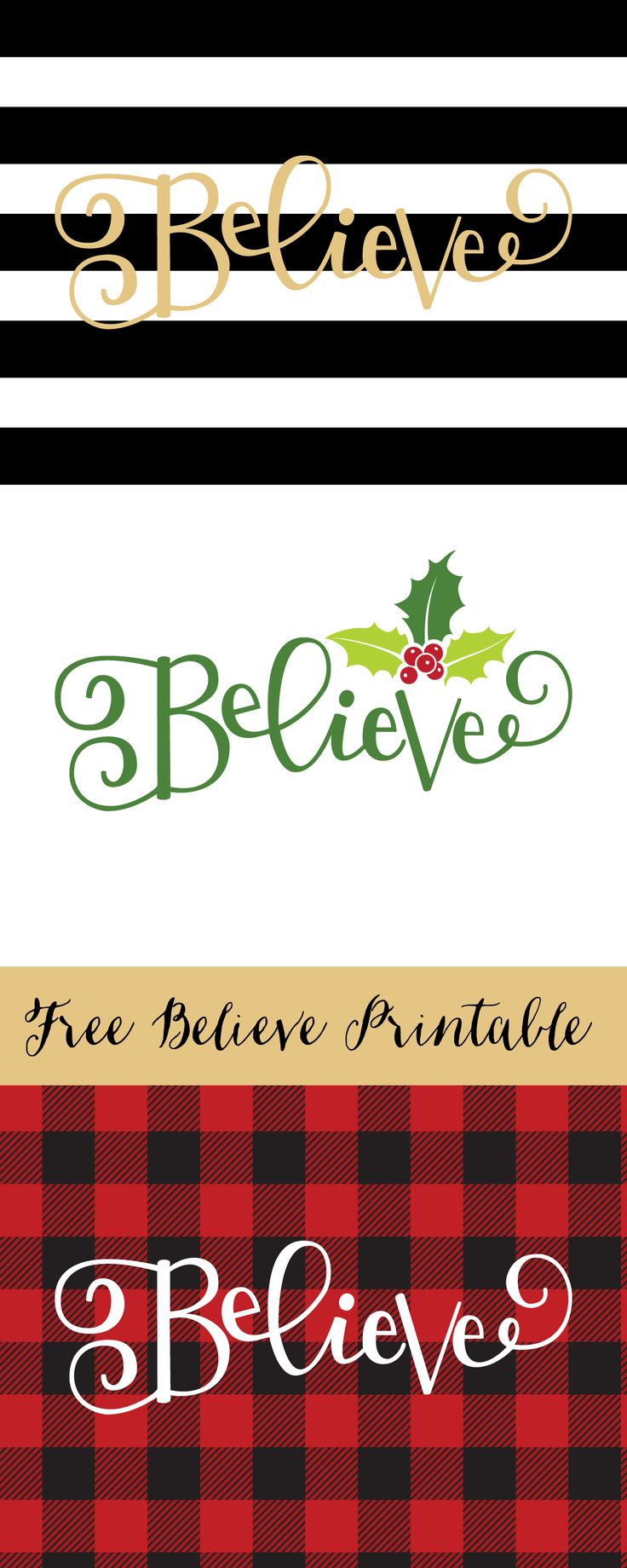 I love the holiday season (although I hate the cold) so I wanted to share a small gift for the holidays. Pleas enjoy this free Believe holiday printable.