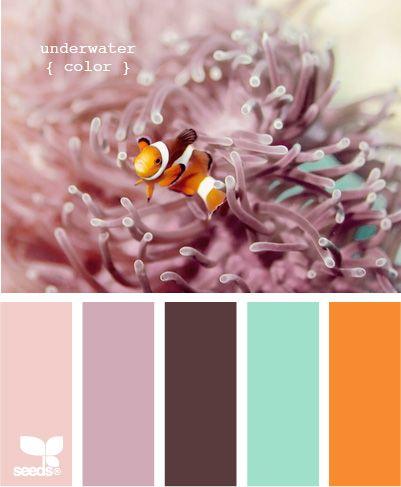 Underwater Color: Color Palettes, Fun Recipe, Design Seeds, Color Schemes, Color Combos, Color Pallets, Underwater Color, Colour Palette, Girls Rooms