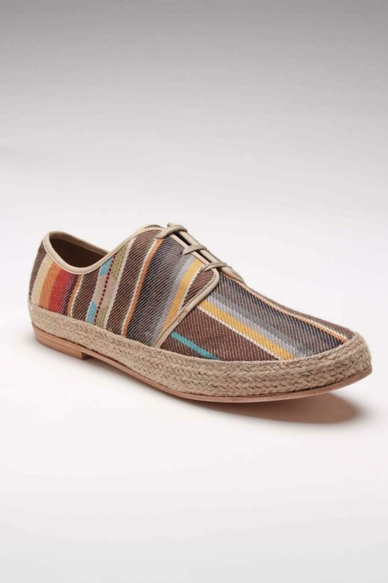 James Aztec Canvas Shoe Brown -- Holy crap, I love these!