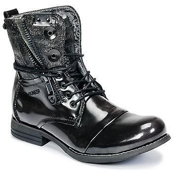Estilo y carácter son las características de esta bota para hombre modelo Tara de la marca Bunker. Fabricadas en piel, han sabido apropiarse el estilo para reinventarlo. Su suela en caucho resistente la vuelve muy confortable. ¡Apostamos a que nos acompañarán a todas partes! - Color : Negro - Zapatos Hombre 120,00 €