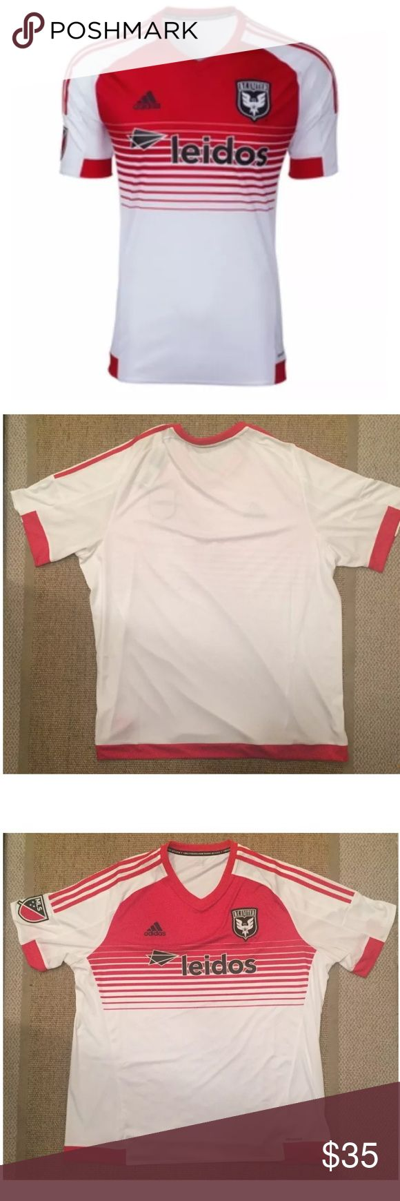 adidas DC United Leidos 2015 Away Jersey XXL adidas DC United Leidos 2015 Away Stadium Jersey (Red/White) Men's Size 2XL  
