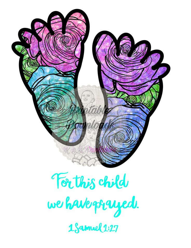 For this child we have prayed sublimation png baby feet